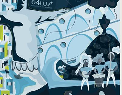 Ilustração | Adesivo parede e porta Agência web B4w