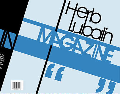 "Diseño Editorial, ""Herb Lubalin Magazine"""