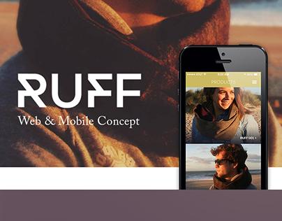 RUFF - Web & Mobile concept