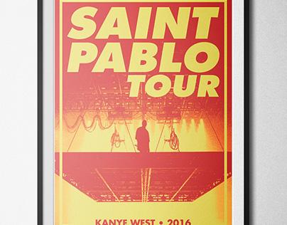 Saint Pablo Tour Poster