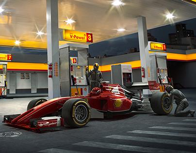 Posto Shell Ferrari