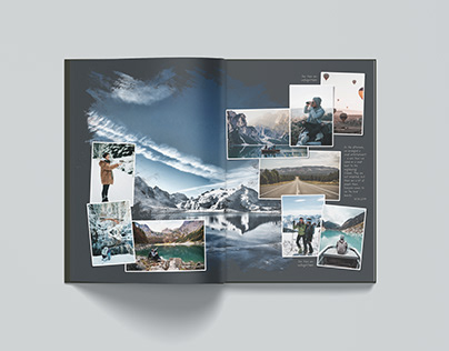 Universal Photobook Template Black A4