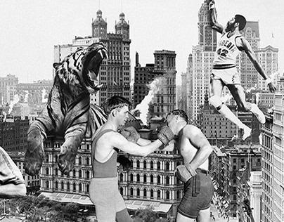 Digital vintage collage