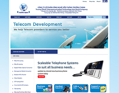 Truong Thinh Telecommunication website template
