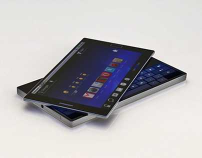 Rotatable Twin Touch Display Phone