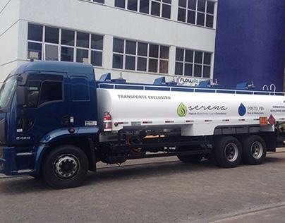 Plotagem de caminhão de combustível