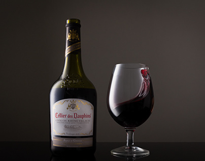 Wine glass from Cellier des Dauphins