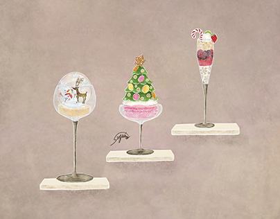 Christmas Dessert, Glass Dessert