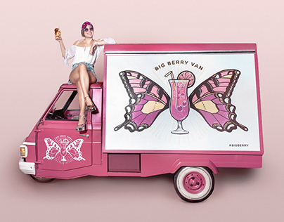 Cocktail Van and Illustrations for Big Berry