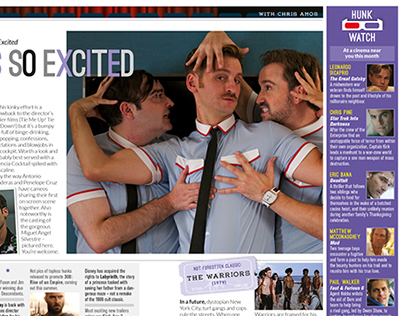 Film magazine spreads