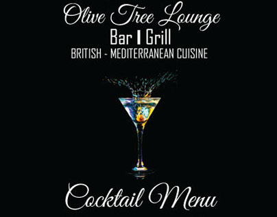 Olive Tree Lounge Cocktail Menu