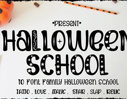 Halloween School font family