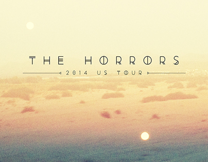 The Horrors 2014 US Tour Poster