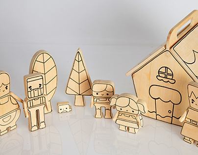Once upon a time... Hansel and Gretel building toy