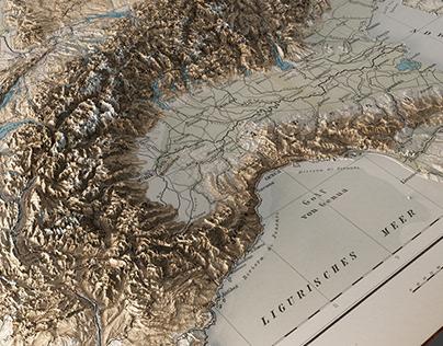 Italian 3d old maps