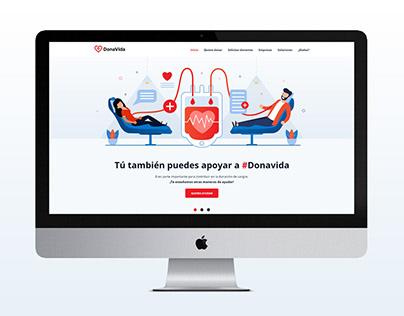 Diseño de página web DonaVida