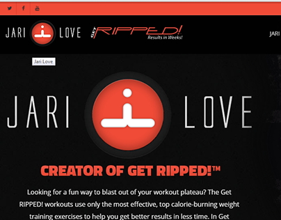 Website Design and Development for Fitness & Work Out