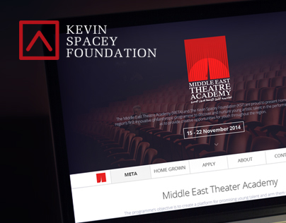 Middle East Theatre Academy - Webdesign