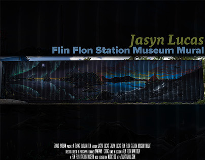 Jasyn Lucas: Flin Flon Station Museum Mural