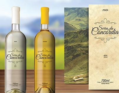 Serra da Concórdia Cachaça Label