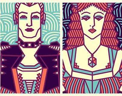 Medieval & Punk [illustration]