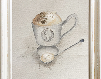 Frosty Capuccino Watercolor
