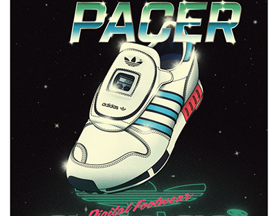 """80s Style Retro-futuristic Posters """"adidas Micropacer"""""""