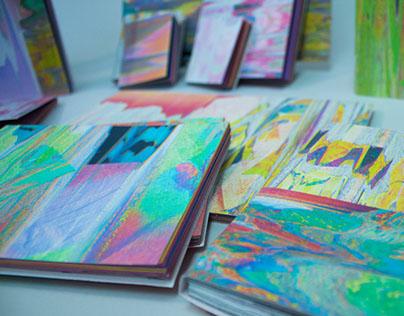 Digitally Marbled Notebooks