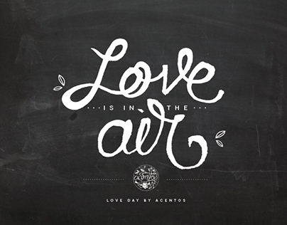 Love is in the air: lettering