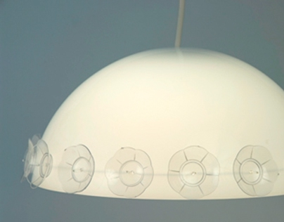Kaniez Abdi Plastic Lampshades and Chandlier