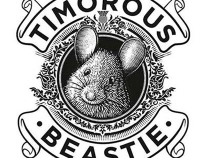 Timorous Beastie Label illustration by Steven Noble
