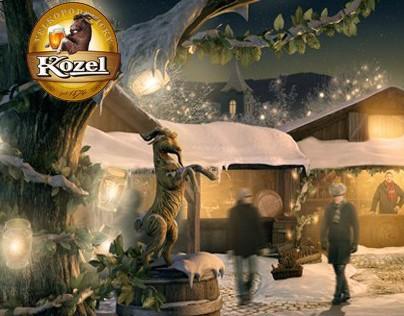 KOZEL BEER | goat market | parallax illustration