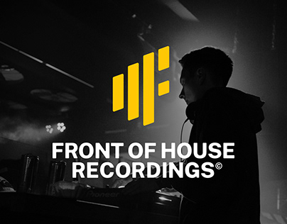 Front of House Recordings - Brand Identity