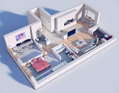 Floriańska -  interior visualization