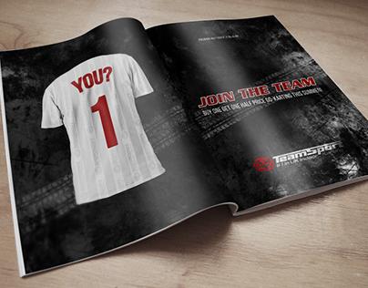 TeamSport Mockup Ad-Campaign