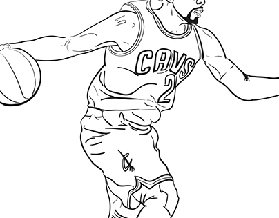 russell westbrook coloring page - kyrie irving cartoon coloring sheets kevin durant coloring