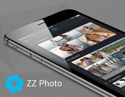 ZZ Photo iOS 8 App Interface