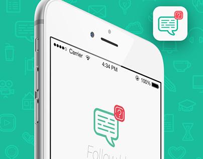 Concept Follow Up iOS App