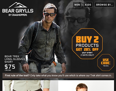 Bear Grylls Email Design