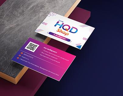 Brand identity for HF shop
