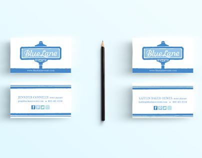 Blue Lane Events Branding