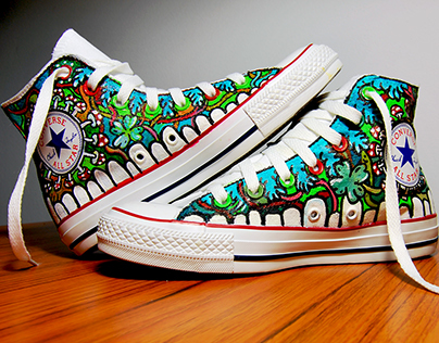 Hand made Converse sneakers