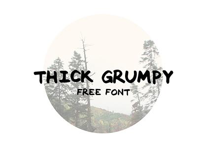 THICK GRUMPY (Free Font)