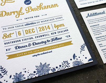 Jasmine & Darryl Wedding Stationery
