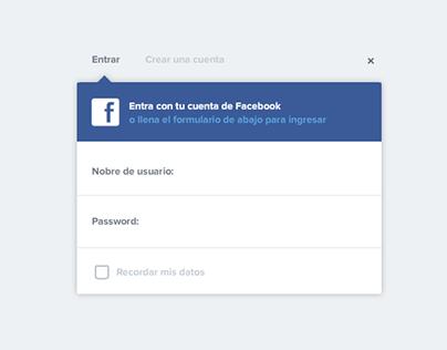 Short Facebook login