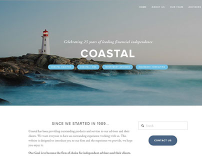 Coastal Equities Site Redesign