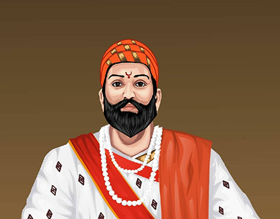Vector art of Shivaji Maharaj 🧡