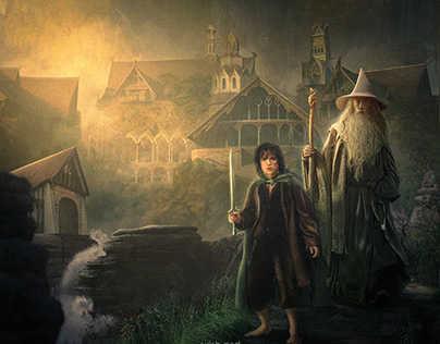 """Tale of """"Lord of the rings"""" [ photo manipulation ]"""