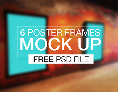 Poster Mock Up [Free PSD]