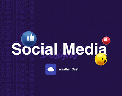 Social Media: Weather Cast Designs